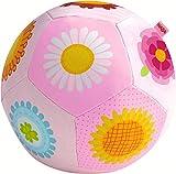 HABA 302481 - Babyball Blumenzauber, weicher, leicht zu greifender Stoffball mit Blumenmotiven,...