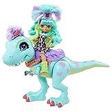 Cave Club GTL69 - Rockelle Puppe & Tyrasaurus Figur Spielset, Dinosaurierfigur und Zubehörteile,...
