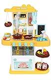 ISO TRADE Spielküche Kinderküche Zubehör Funktion Wasserhahn Kaltdampf 43 Elemente 9567,...