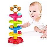 YGJT Baby Spielzeug ab 6 Monate Kugelbahn   Motorikspielzeug ab 1 Jahr mit 5 Schichte Ball Drop...