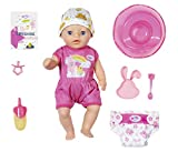 Zapf Creation 827789 BABY born Soft Touch Little Girl Puppe mit lebensechten Funktionen und...