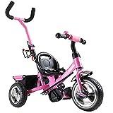 Dreirad Sicherheitsgurt abnehmbare Lenkstange verstellbare Fußablage Kinderdreirad Fahrrad Kinder...