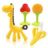 Beißring für babys, Baby Zahnen Spielzeug für Babys Kleinkinder- weiches Silikon, BPA-frei, Von...