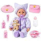 Bayer Design 94694AA, Funktionspuppe, Interaktive Puppe Piccolina Magic Eyes, bewegt den Mund,...