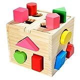 all Kids United® Steckwürfel aus Holz-Würfel Lernspielzeug-Puzzle Steckbox für Baby & Kleinkind;...