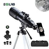 ESSLNB Teleskop Einsteiger 80/400 Fernrohr Teleskop für Kinder Erwachsene mit 10x Smartphone...