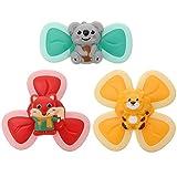 Kisangel 3 Stück Baby Kreisel Spielzeug Saugnapf Spinnen Lernspielzeug für Baby Säugling...