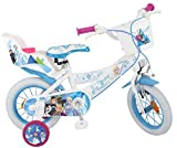 Disney Kinderfahrrad Frozen 12 Zoll Mädchen - Fahrrad mit Puppensitz, Korb, abnehmbaren...