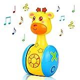 aovowog Baby Spielzeug ab 6 Monate Plus,Musikspielzeug Baby Spielzeug Cartoon Giraffe Tumbler für...