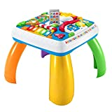 Fisher-Price DRH31 - Lernspaß Spieltisch, Lernspielzeug mit Lichtern, Sätzen und Liedern,...