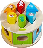 HABA 305060 - Sortierbox Lieblingstiere, farbenfrohes Zuordnungsspiel mit 6 Holzsteinen und 1...