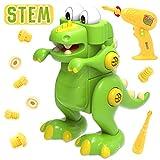 GILOBABY Dinosaurier Montage Spielzeug , Kinder Lehrreich DIY Gebäude Spielzeug,2 Bohrer Tool...