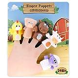 aeioubaby.com Fingerpuppen für Kinder und Babys | 5 Bauernhoftiere | PVC-Handpuppen ohne BPA |...