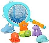 Dulabei 7 Stück Badespielzeug Baby ab 1 2 3 Jahr, Badewanne Spielzeug Kinder, Badewannenspielzeug...