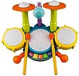 Kinder Trommel Set, Rabing Musikinstrumentenspielzeug mit 2 Trommelstöcken, Beats Flash Light und...