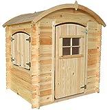 TIMBELA M505-1 Holzhaus mit Holzboden - Kindergartenhaus für den Außenbereich, H145 x 105 x 130...