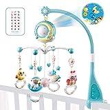 fllyingu Baby-Musical Krippe Mobile Mit Projektor Und Lichtern, Kinderbett Spielzeug Hängende...