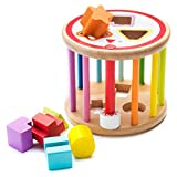 all Kids United Baby Lernspielzeug Sortierspiel aus Holz Formenrolle Sortierwürfel Holzspielzeug...