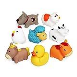 Schwimmendes Badespielzeug Farm Set(6 PCS),Weiche Hunde Enten Schaf Henne Schwein...