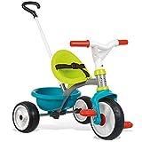 Smoby - Be Move blau - Kinderdreirad mit Schubstange, Sitz mit Sicherheitsgurt, Metallrahmen,...