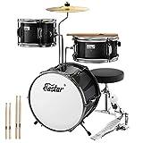 Eastar Schlagzeug 14' 3-teilig, Kinder für 3-10 Jahre, Schlagzeug Set mit Snare, Tom, Bass Drum,...