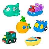 MOOKLIN ROAM 6 Stück Baby Boot Badespielzeug Set - Water Toy Badewannenspielzeug für Baby...