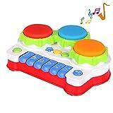 TINOTEEN Baby Spielzeug für Kleinkind und Baby, Klavier und Trommel Musik Spielzeuge