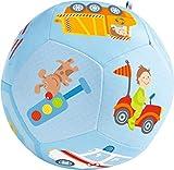 HABA 302482 - Babyball Fahrzeug-Welt, weicher Spielball mit Fahrzeugmotiven, Babyspielzeug ab 6...