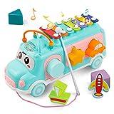 DeeXop Babyspielzeug 12-18 Monate+ Aktivität Würfel Spielzeug Bus enthält Xylophon,...