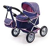 Bayer Design 13052AA Puppenwagen Trendy, höhenverstellbar, zusammenklappbar, mit Tasche, Motiv:...