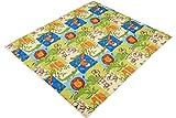 IDEENREICH Baby Krabbeldecke Krabbeltraum| Safari | RUTSCHFEST | 130x150cm | ideal als Spieldecke,...