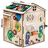Aktivitätswürfel Holz mit Licht 19 in 1 Motorikwürfel Montessori Aktivitätsbrett Entwickelndes...