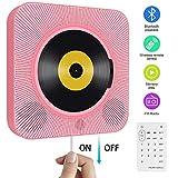 Tragbarer CD Player, wandmontierbar Bluetooth eingebaute HiFi-Lautsprecher für Kinder mit...