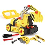 kramow 7 in 1 Montage Spielzeug Auto LKW,Kinder Spielzeug ab 3,Spielzeug 4 Jahre Junge,Lastwagen...
