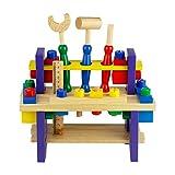 Nuheby Werkzeug Werkbank Kinder Werkzeugkasten Holz Multifunktionale Rollenspiel Spielwerkbank...