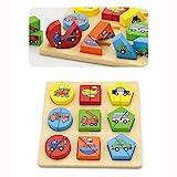 Viga Toys - Holz- Formenpuzzle - Fahrzeuge