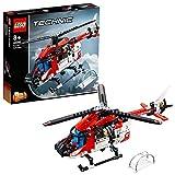 LEGO 42092 Technic Rettungshubschrauber, 2-in-1 Spielzeugflugzeug, Modellbausatz für Jungen und...