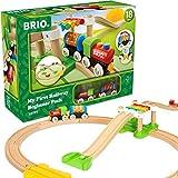 BRIO World 33727 Mein erstes BRIO Bahn Spiel Set – Zug mit Waggon, Schienen & Hängebrücke für...