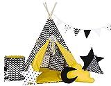 Golden Kids Kinder Spielzelt Teepee Tipi Set für Kinder drinnen draußen Spielzeug Zelt Indianer...