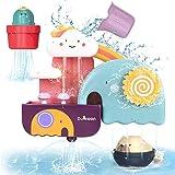 GILOBABY Kinder badespielzeug, Badewannenspielzeug mit Tasse, Bär und Kaktus...
