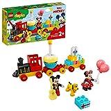LEGO 10941 DUPLO Disney Mickys und Minnies Geburtstagszug, Spielzeug für Kleinkinder mit Kuchen und...