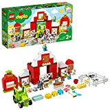 LEGO 10952 DUPLO Scheune, Traktor und Tierpflege Kleinkinder Spielzeug ab 2 Jahren mit Figuren:...