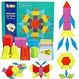 Lewo 230 Teilig Holzpuzzles Geometrische Formen Puzzle Bausteine Montessori Spielzeug Lernspielzeug...