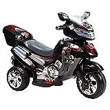 Kinder Elektromotorrad, Dreirad C031, 12 W 6V mit Musik und Licht schwarz