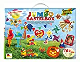 folia 50915/1 - Jumbo Bastelkoffer mit 107 Teilen, riesige Auswahl an Bastelmaterialien für Kinder...