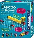KOSMOS 620707 Electro Power, Einstieg in die Welt der Elektrizität, 5 motorisierte Modelle bauen...