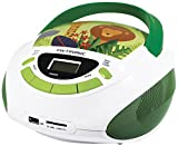 Metronic Radio/CD-Player für Kinder, Ozean, mit USB-/SD-/AUX-IN-Port Grün/Weiß