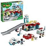 LEGO 10948 DUPLO Parkhaus mit Autowaschanlage, Spielzeugautos, Parkhaus Spielzeug für Kinder ab 2...