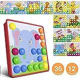 Mosaik Spielzeug, Jooheli Mosaik Steckspiel ab 3 Jahren Kinder, Steckspielzeug Pilz Nagel Puzzle...
