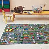 Carpet Studio Teppich Kinderzimmer 140x200cm, Spielteppich Straße Jungen & Mädchen für...